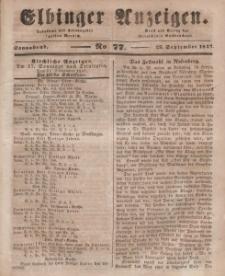 Elbinger Anzeigen, Nr. 77. Sonnabend, 25. September 1847