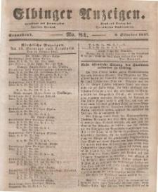 Elbinger Anzeigen, Nr. 81. Sonnabend, 9. Oktober 1847