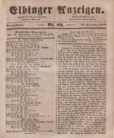 Elbinger Anzeigen, Nr. 83. Sonnabend, 16. Oktober 1847