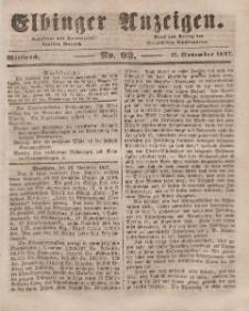Elbinger Anzeigen, Nr. 92. Mittwoch, 17. November 1847