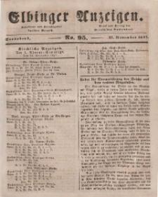 Elbinger Anzeigen, Nr. 95. Sonnabend, 27. November 1847