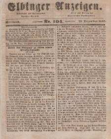 Elbinger Anzeigen, Nr. 104. Mittwoch, 29. Dezember 1847