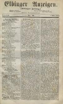 Elbinger Anzeigen, Nr. 19. Sonnabend, 7. März 1857