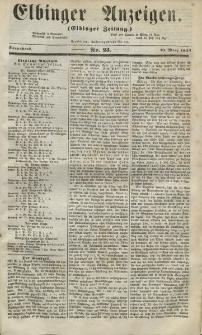 Elbinger Anzeigen, Nr. 23. Sonnabend, 21. März 1857