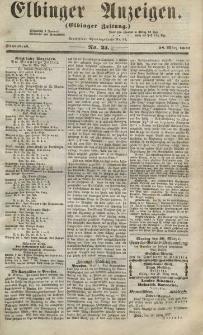 Elbinger Anzeigen, Nr. 25. Sonnabend, 28. März 1857