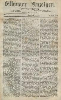 Elbinger Anzeigen, Nr. 30. Mittwoch, 15. April 1857