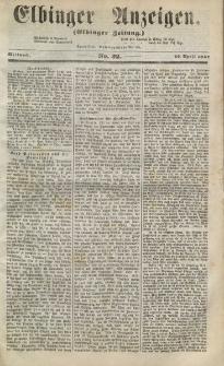 Elbinger Anzeigen, Nr. 32. Mittwoch, 22. April 1857