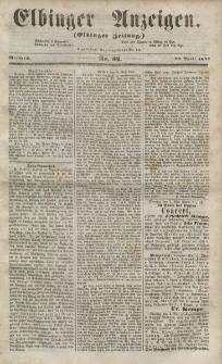 Elbinger Anzeigen, Nr. 34. Mittwoch, 29. April 1857