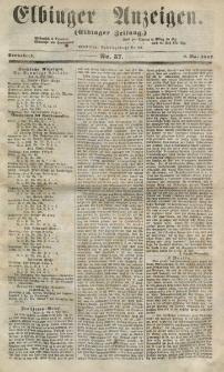 Elbinger Anzeigen, Nr. 37. Sonnabend, 9. Mai 1857