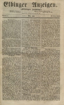 Elbinger Anzeigen, Nr. 42. Mittwoch, 27. Mai 1857