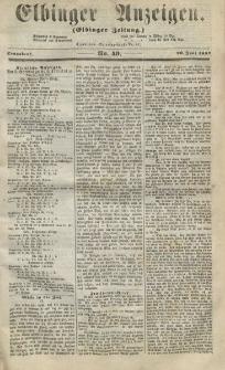 Elbinger Anzeigen, Nr. 49. Sonnabend, 20. Juni 1857