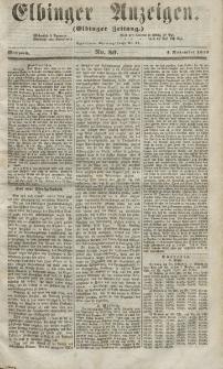 Elbinger Anzeigen, Nr. 89. Mittwoch, 4. November 1857