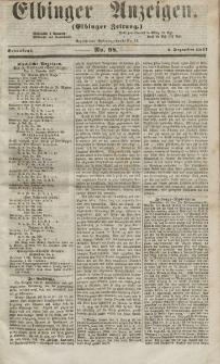Elbinger Anzeigen, Nr. 98. Sonnabend, 5. Dezember 1857