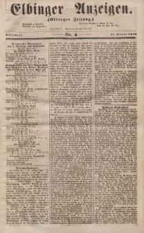 Elbinger Anzeigen, Nr. 4. Sonnabend, 12. Januar 1856
