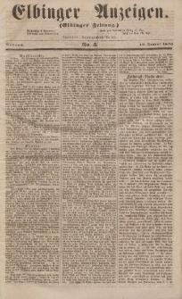 Elbinger Anzeigen, Nr. 5. Mittwoch, 16. Januar 1856