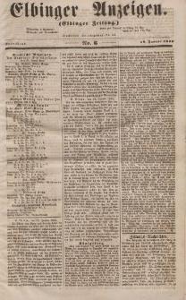 Elbinger Anzeigen, Nr. 6. Sonnabend, 19. Januar 1856