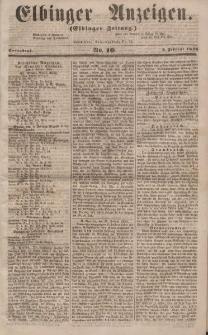 Elbinger Anzeigen, Nr. 10. Sonnabend, 2. Februar 1856