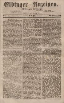 Elbinger Anzeigen, Nr. 15. Mittwoch, 20. Februar 1856