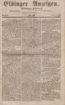 Elbinger Anzeigen, Nr. 27. Mittwoch, 2. April 1856