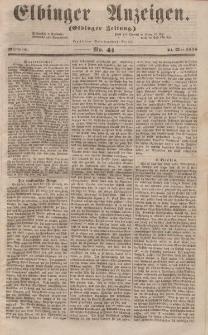 Elbinger Anzeigen, Nr. 41. Mittwoch, 21. Mai 1856