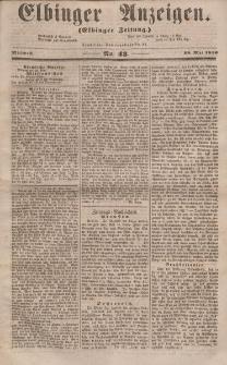 Elbinger Anzeigen, Nr. 43. Mittwoch, 28. Mai 1856