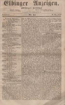 Elbinger Anzeigen, Nr. 44. Sonnabend, 31. Mai 1856