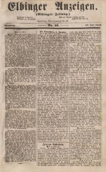 Elbinger Anzeigen, Nr. 61. Mittwoch, 30. Juli 1856