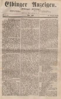 Elbinger Anzeigen, Nr. 69. Mittwoch, 27. August 1856