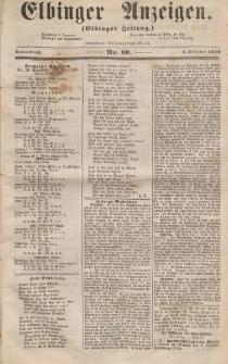 Elbinger Anzeigen, Nr. 80. Sonnabend, 4. Oktober 1856