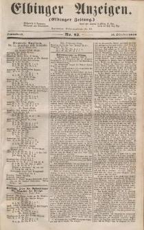 Elbinger Anzeigen, Nr. 82. Sonnabend, 11. Oktober 1856