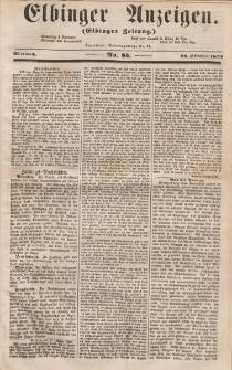 Elbinger Anzeigen, Nr. 85. Mittwoch, 22. Oktober 1856