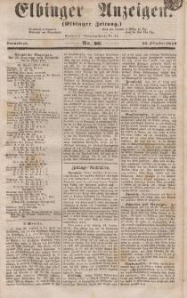 Elbinger Anzeigen, Nr. 86. Sonnabend, 25. Oktober 1856