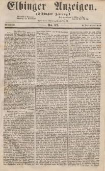 Elbinger Anzeigen, Nr. 97. Mittwoch, 3. Dezember 1856