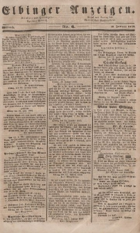 Elbinger Anzeigen, Nr. 6. Mittwoch, 19. Januar 1848