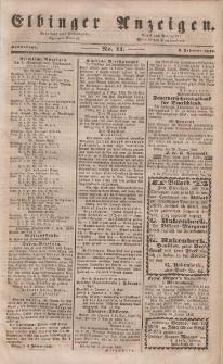 Elbinger Anzeigen, Nr. 11. Sonnabend, 5. Februar 1848