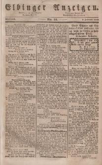 Elbinger Anzeigen, Nr. 12. Mittwoch, 9. Februar 1848