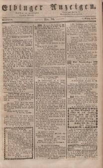 Elbinger Anzeigen, Nr. 18. Mittwoch, 1. März 1848