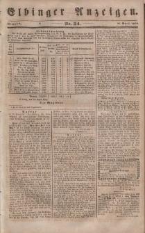 Elbinger Anzeigen, Nr. 34. Mittwoch, 26. April 1848