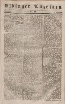 Elbinger Anzeigen, Nr. 46. Mittwoch, 7. Juni 1848