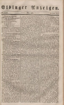 Elbinger Anzeigen, Nr. 52. Mittwoch, 28. Juni 1848