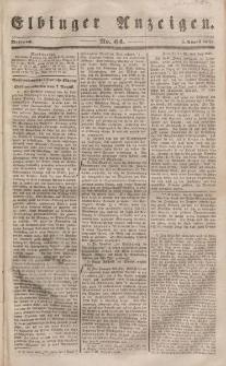 Elbinger Anzeigen, Nr. 64. Mittwoch, 9. August 1848