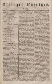 Elbinger Anzeigen, Nr. 65. Sonnabend, 12. August 1848