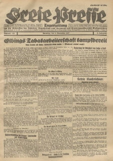 Freie Presse, Nr. 173 Dienstag 1. November 1927 3. Jahrgang