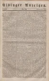Elbinger Anzeigen, Nr. 74. Mittwoch, 13. September 1848