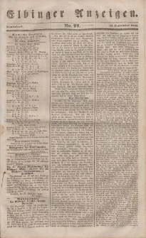 Elbinger Anzeigen, Nr. 77. Sonnabend, 23. September 1848