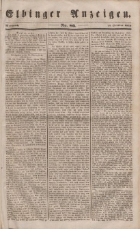 Elbinger Anzeigen, Nr. 86. Mittwoch, 25. Oktober 1848