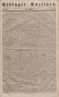 Elbinger Anzeigen, Nr. 104. Mittwoch, 27. Dezember 1848