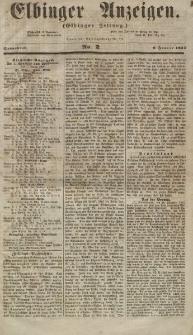 Elbinger Anzeigen, Nr. 2. Sonnabend, 6. Januar 1855