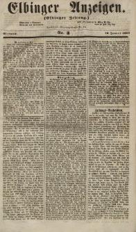 Elbinger Anzeigen, Nr. 3. Mittwoch, 10. Januar 1855