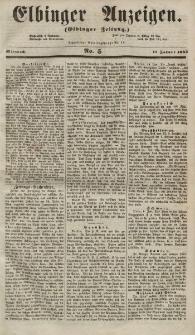 Elbinger Anzeigen, Nr. 5. Mittwoch, 17. Januar 1855